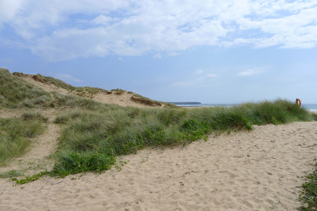 Pembrokeshire beach with sand dunes.